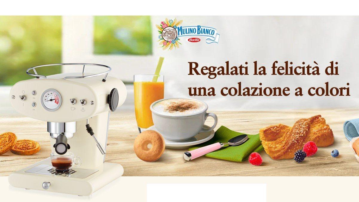Mulino Bianco regalati la felicita di una colazione a colori  in palio macchine da caffè