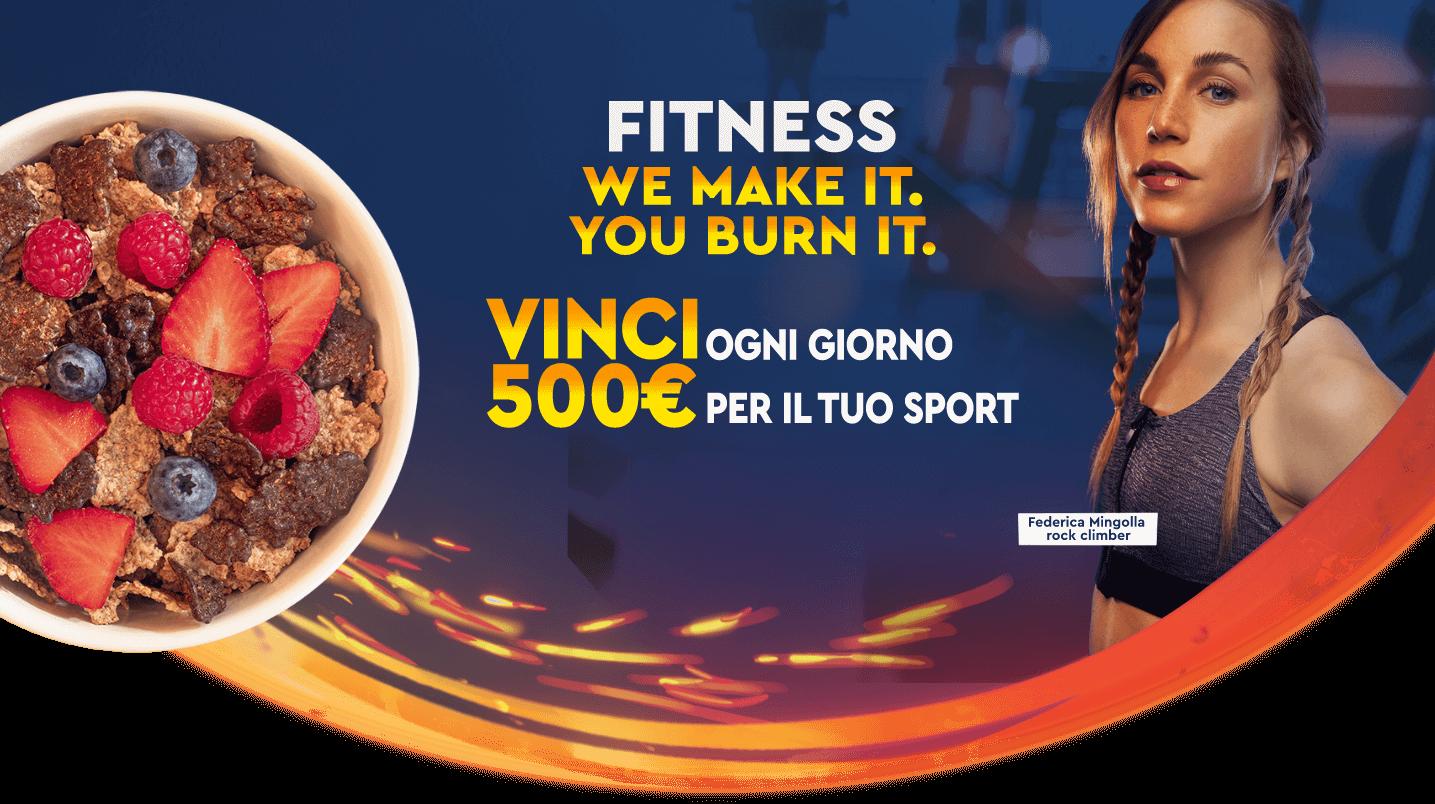 Fitness vinci ogni giorno 500 euro per Lo sport