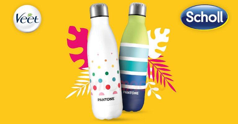 Colora la tua estate con Veet e Scholl, ricevi come premio certo una borraccia Pantone