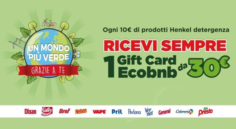 Henkel un mondo più verde grazie a te, gift Card EcoBnB euro 30