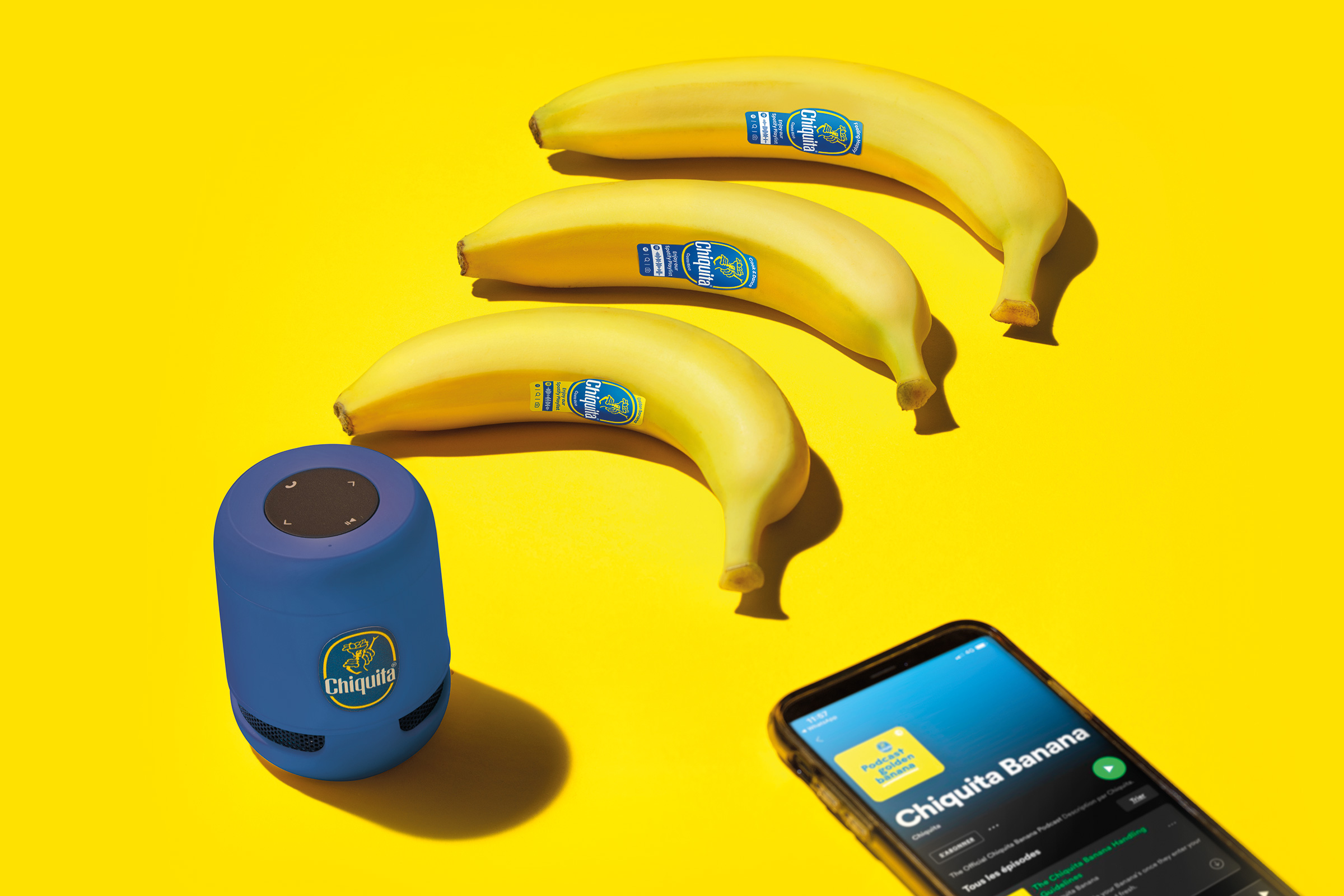 Concorso Chiquita Yellow Banana vinci abbonamenti annuali a Spotify premium e Speaker Bluetooth