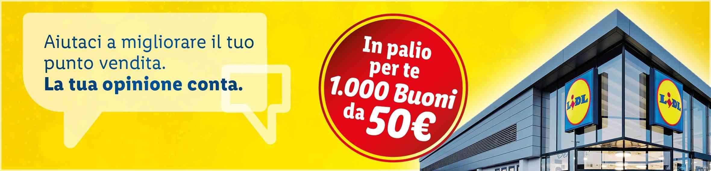 Lidl concorso la tua opinione conta vinci buoni da euro 50