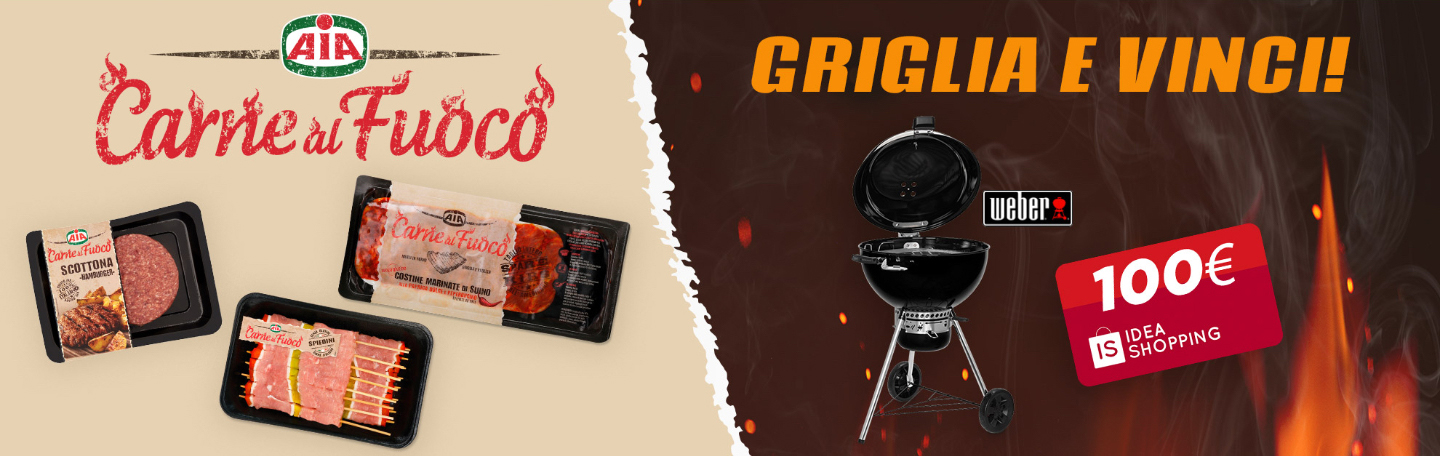 CONCORSO AIA VINCI gift card idea shopping da 100euro e barbecue weber