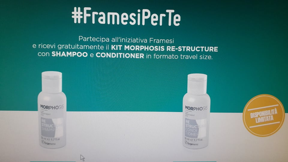 Ricevi gratuitamente un kit shampoo e conditioner