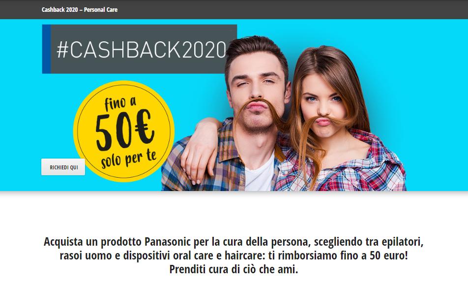 Cashback2020 Panasonic 50 euro