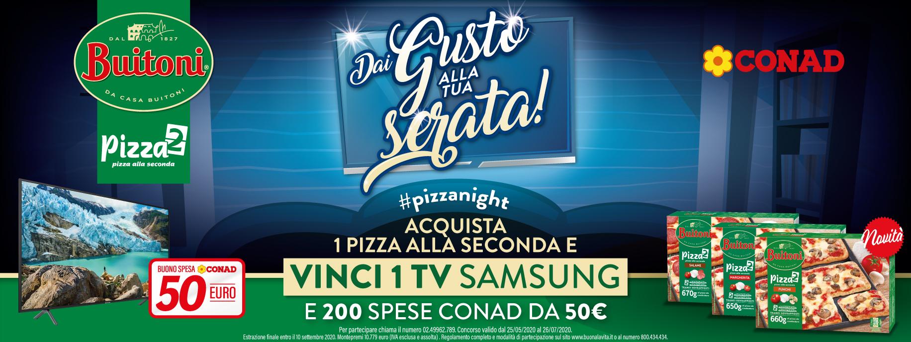 concorso Buitoni pizza vinci 200 buoni spesa e tv samsung